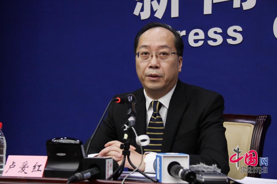 国家人社部政策研究司副司长、新闻发言人卢爱红 中国网郭天虎摄-人
